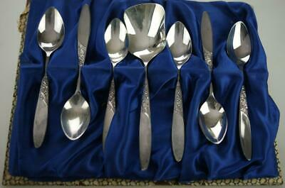 Vintage Set Grosvenor Christine Demitasse Teaspoons & Sugar Spoon in EPNS KC390