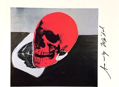 Andy Warhol Authentic Hand Signed Signature * Skull *  Print  W/ C.o.a.
