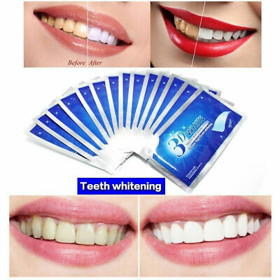 14 3D Professional Teeth Whitening Safe Tooth Bleaching White Strips Oral Care