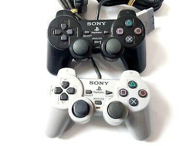 Coppia di Controller PS2 Playstation Play Station 2 Sony Originale Dualshock 2