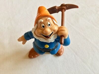 Figurine Disney nain grincheux bêche vintage collector 1982 bully neuf