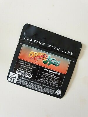 1x Jungle Boys Orange Mints Mylar Bag (3.5g) Cali Tin