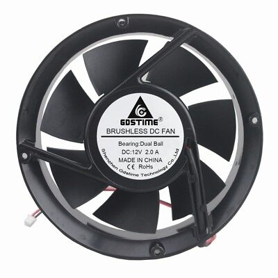 NEW 80mm*15mm Ball Bearing Fan Delta AFB0812HB 12VDC//7//9//12V 2wire tinned 34cfm