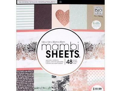 "12/"" x 12/"" Mambi Sheets /'Joyful/' 48 sheets PADX-285 Me /& My BIG ideas"