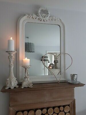 Shabby chic French Country ornate candle holder stick