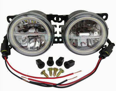Fiat Panda Punto Evo 500 500L Coppia Fendinebbia Diurne Angel Eyes Full Led -