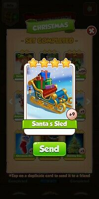 Coin Master Cards Santa's Sled Fast Delivery