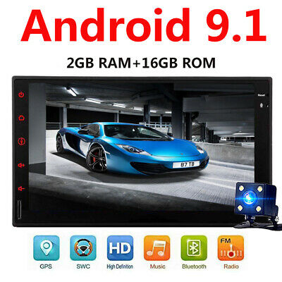 Android 9.1 WiFi 2Din 7in Quad Core GPS Navi Car Stereo MP5 Player AM FM Radio