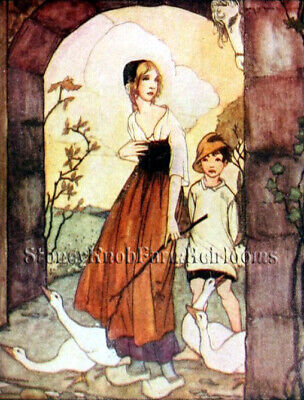 The Goose Girl ~ Fairy Tales ~ DIY Counted Cross Stitch Pattern