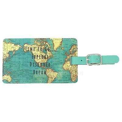 Sass & Belle Vintage Map Luggage Tag Travel ID Holiday Case Name Address Label