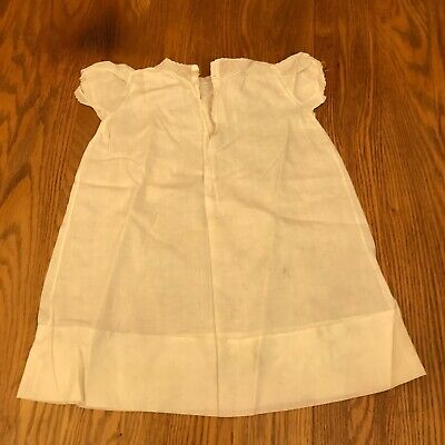Vintage Baby Child Christening Gown Dress White Cotton