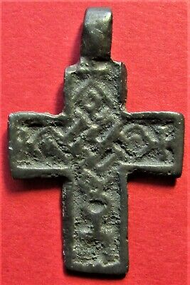 Ancient Russian Bronze Cross! XV-XVII century!