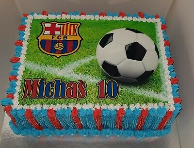 Personalised Football Photo/Design Edible Icing Cake Topper - Any Text,Any Photo