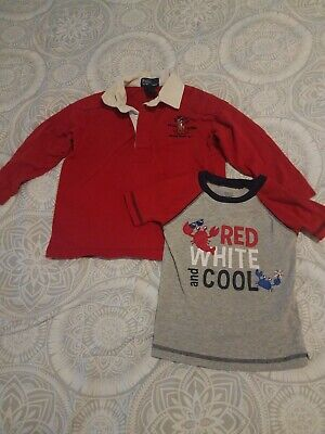 3t Shirts Fouth Of July And Polo By Ralph Lauren And Carters
