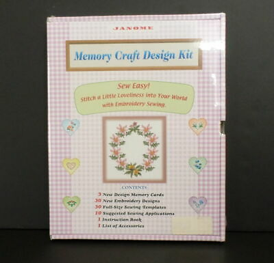 Janome Memory Craft Design Kit 3 Memory Cards 30 Embroidery Designs New Sealed