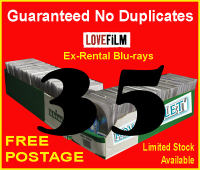 35 x LOVEFILM Ex-Rental Blu-Ray Movies, OVERSTOCK, JOBLOT, WHOLESALE, CLEARANCE