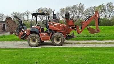 2006 Ditch Witch RT95 Ride-On Trencher Backhoe Plow 6-Way Blade 95HP ROPS 1943hr