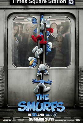 THE SMURFS Live Action Katy Perry Sofía Vergara D/S 27x40 Movie Poster 2011