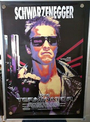 The Terminator Single Sided Video VHS Original Rolled 27x40 Movie Poster 1991