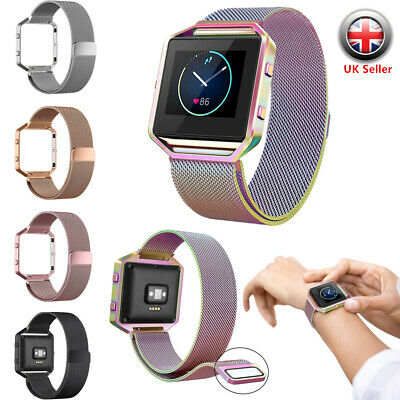 For FitBit BLAZE Replace Milanese Magnetic Stainless Steel Wristband Strap Band