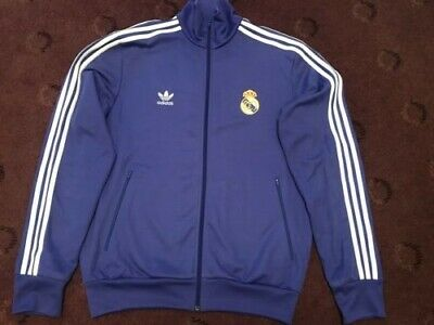 1980's Real Madrid Adidas Originals Tracksuit Top Adults