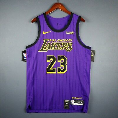 9125a76edd2 100% Authentic Lebron James Nike City Edition Lakers jersey Size 48 L Large  Mens