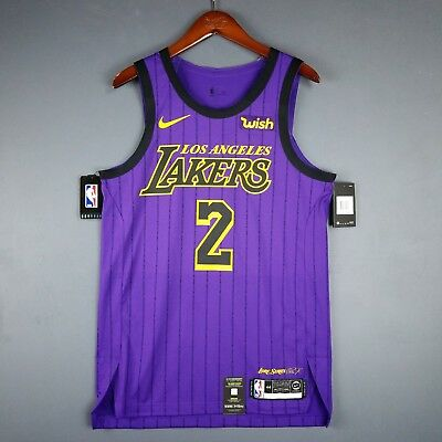 97d3cfe25 100% Authentic Lonzo Ball Nike City Edition Lakers jersey Size 44 L Mens