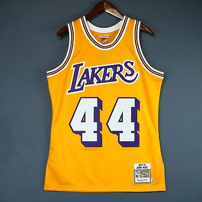 790232a9703 100% Authentic Jerry West Mitchell & Ness 71 72 Lakers Jersey Size 48 XL  Mens