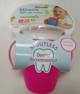 Munchkin Miracle 360 Toddler Trainer Cup with handles Pink New