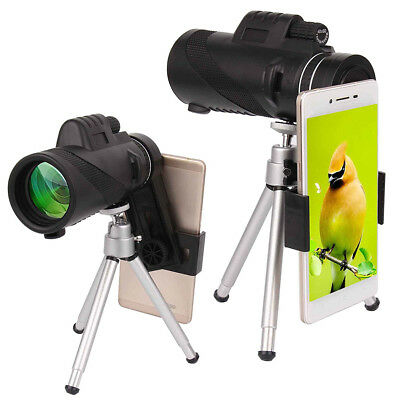For Mobile Cell Phone HD 40X60 Optical Zoom Clip on Camera Lens Phone Telescope