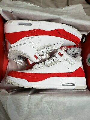 new styles bf8b9 edede Nike Air Jordan 3 Retro TH SP Tinker Hatfield Air Max 1 OG Red White Sz