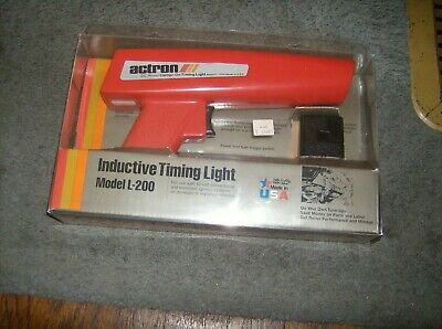 Actron L-200 Dc Power Clamp On Inductive Timing Light  - Made In Usa-Nice