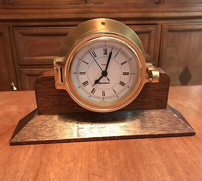 Benchmark Ship's Bell Mantle Clock Made In Germany SHIPS FAST
