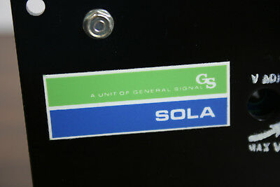GS Sola- Electric  Power Supply  24VDC  2.5 A   Cat No. 83-24-225-2
