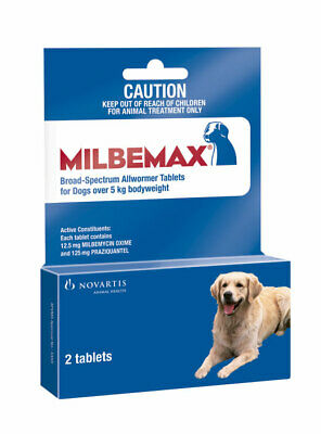 Milbemax Allwormer Dogs Over 5kg Tab X 2