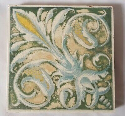 Charming Unusual Minton Hand Painted Regal Shabby Chic Design Victorian Tile