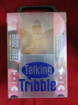 Star Trek Deep Space Nine Talking Tribble & 2 VHS Gift Set 1998 USED