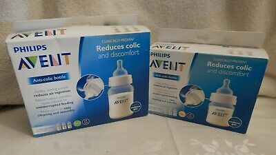 Philips Avent Anti Colic WIDE NECK Bottle Lot-4oz AND 9oz-NEW IN BOX