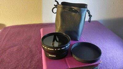 52MM-LENS 0.45x Photo HD Professional Wide Angle  and Macro Lenses With Case