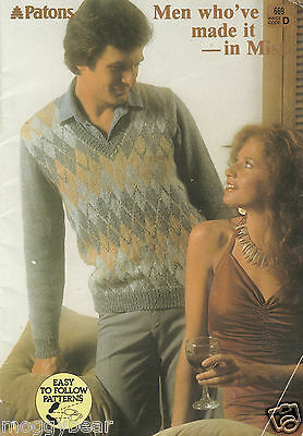 Men who've Made it - in Misti  Patons Knitting Book 669  Easy to Follow Patterns
