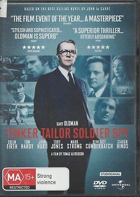 Tinker Tailor Soldier Spy (DVD, 2012) Rated MA 15+ Region 4 PAL Tom Hardy