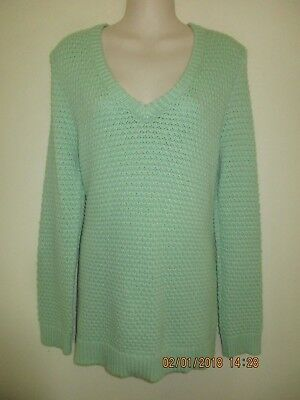 b1ff636f95a1 NWT Nordstrom HINGE Super Soft Long Mint Green Wool Cashmere Sweater Size M