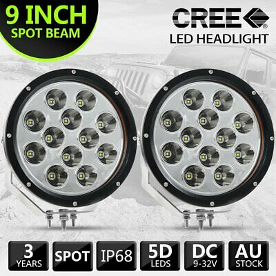 9 Inch Round LED Driving Lights Offroad Spot 4x4 Lights Kings Illuminator Silver