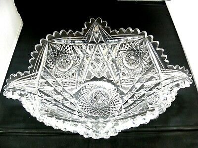 Abp Cut Glass J Hoare Sharply Cut Exceptional Fruit Bowl