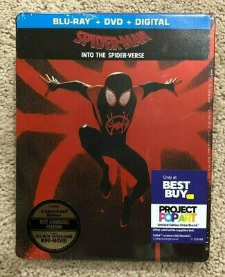 Spider-Man Into the Spider-Verse STEELBOOK Best Buy (Blu-Ray DVD Digital) Sealed