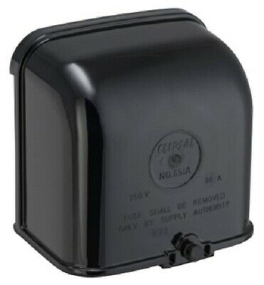Clipsal MAIN CONNECTION BOX COVER ONLY For 651A, Black *Australian Brand