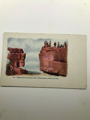 Balanced Rock and Steamboat Rock Western Gateway Garden of the Gods Postcard