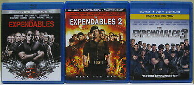 The Expendables Trilogy Collection Blu Ray DVD Digital Spider-Man Far From Home