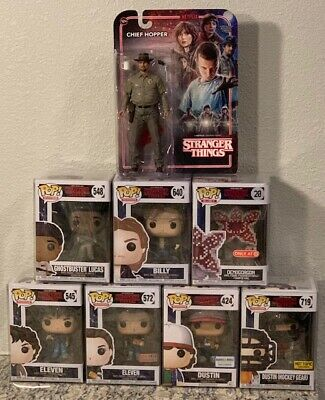 Funko Pop Stranger Things Lot - Dustin Eleven Ghostbuster 8-bit VHTF +More