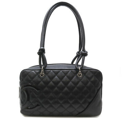 d3345b66676ea5 Auth Chanel Calfskin Patent Leather Cambon Line Shoulder Bag A25171 DH51638